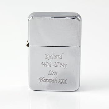 Personalised Super Man Silver Lighter Best Manwedding Gift Xmas
