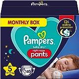 Pampers Baby-Dry Night Luierbroek Maat 5, 140 Luiers 12kg-17kg, Pampers Night Pants Bieden Extra Bescherming De Hele Nacht La