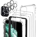 Luibor [7 in 1] Cristal Templado iPhone 11 Pro + Funda iPhone 11 Pro + cámara Protector de Pantalla,[9H Dureza] [Compatible c