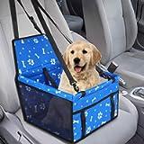Seggiolino Auto per Cane Animali Piccola/Media,GeeRic Cuscini Rialzati di Cane/Gatto con Guinzaglio di Sicurezza…