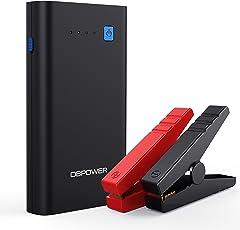 DBPOWER 500A 10800mAh Tragbare Auto Starthilfe Power Pack Jump Starter, Externer Akku Ladegerät mit Dual USB Ausgänge (Ein QC3.0 und Ein 5V/2.1A), Ein Typ C Anschluss und LED Taschenlampe