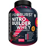 Proburst Nitro Builder Whey, Isolate and Hydrolysed Protein & Creatine Monohydrate, Colombia Cafe Flavor, 2kg - 44 servings