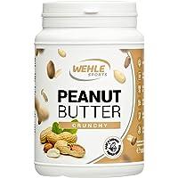Beurre de cacahuète – beurre d'arachide sans sucre ni additifs – beurre de cacahuète naturel, sans sel, ni huile de palme ajoutés, beurre de cacahuète naturel de Wehle Sport 1000g (1kg) (croquant)