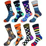 EmaoFun Calcetines divertidos para hombre, calcetines coloridos de algodón para vestir, para hombre, talla 39 - 46…
