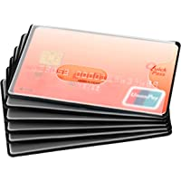 Mitavo Credit Card Protector, RFID Blocking Sleeves for Credit Cards, Money Cards, Giro Cards 6 Pack, Plastic, Black…