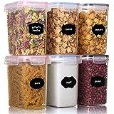 Aitsite Boîte de Conservation Alimentaire 6 Pcs (1.6L) Boîtes de Rangement pour Céréales sans BPA Récipient de Stockage en Pl