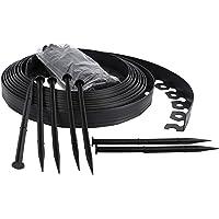 Bordure de Jardin Flexible, Bordure de pelouse Douce, Bordure de Jardin en Plastique - 4cm de Haut - Noir 10 mètres + 30…