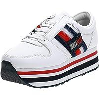 Tommy Hilfiger Donna Sneakers Custumize Flatform Bianco MOD.