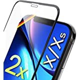 """UTECTION 2X Cristal Templado para Apple iPhone X/XS (5.8"""") - 3D Full Screen Protector de Pantalla 9H - Máxima protección Anti"""