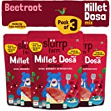 Slurrp Farm Millet Dosa Instant Mix | Supergrains and Beetroot | Natural and Healthy Food, 150g (Pack of 3)