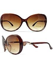 EFASHIONUP Oversize Women's Sunglasses (2563, Brown)