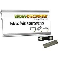 2 Badges porte-nom a personnaliser NMSG badge identité aimanté personnalisable clip, épingle, aimant double badge…