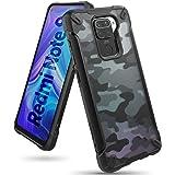 Ringke Fusion-X Compatibel met Xiaomi Redmi Note 9 Case, Krasvast Schokbestendig Robuuste Bumper Hoesje - Camo Black