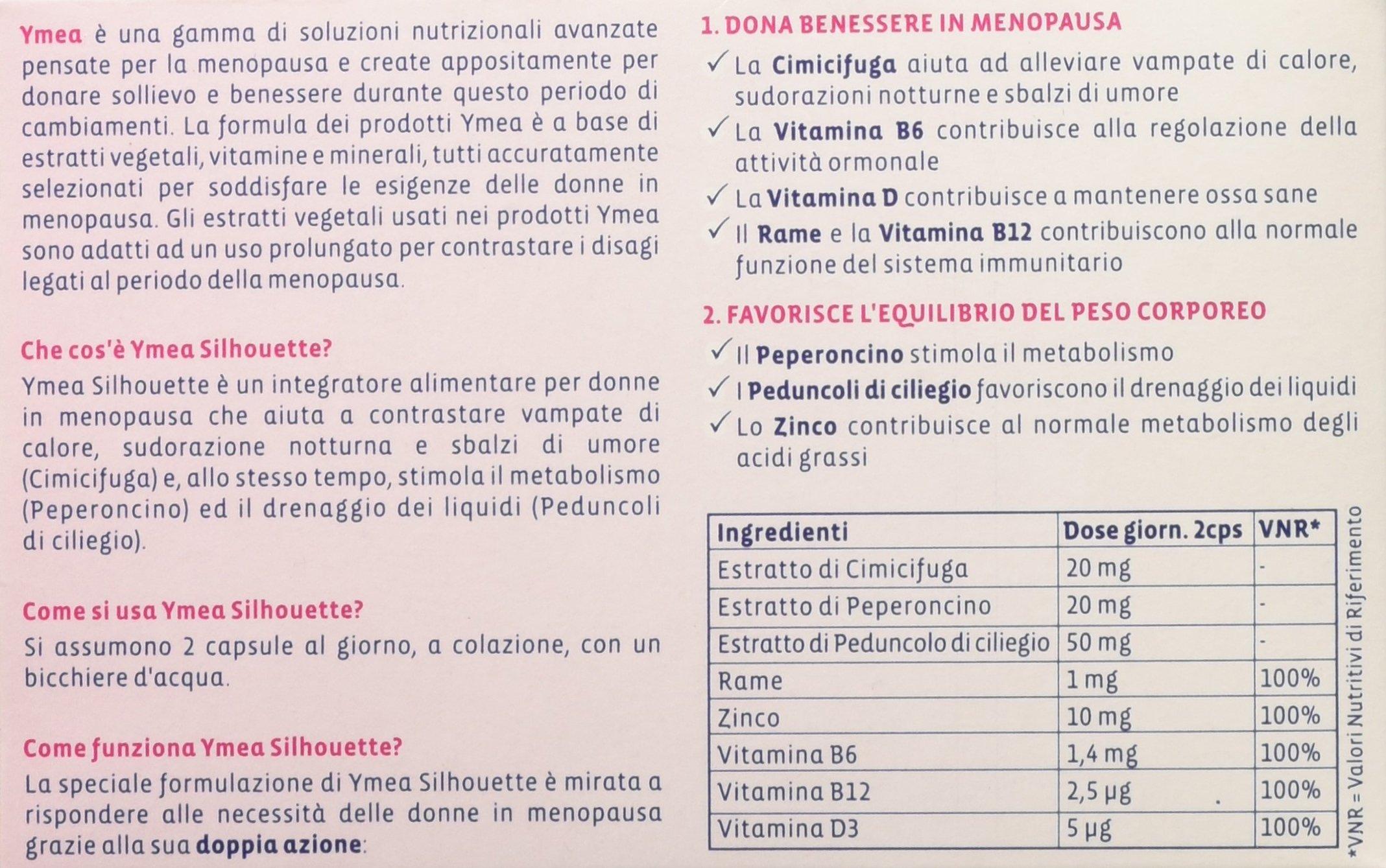 Ymea Silhouette Integratore Alimentare, Pastiglie per un Controllo del Peso Forma con Progressiva Riduzione delle… 4 spesavip
