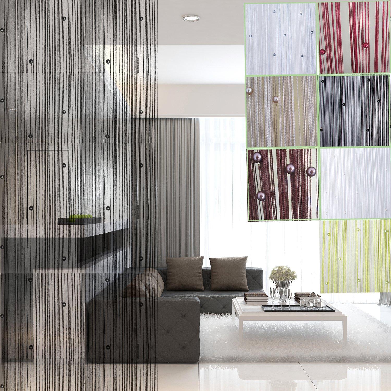 rideau fil elegant rideau de porte rideaux de porte bambou lavande with rideau fil fabulous. Black Bedroom Furniture Sets. Home Design Ideas
