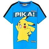 Pokemon Camiseta Manga Corta Niño, Camisetas Niño De Pikachu, Camisetas De Algodón para Niños, Regalo Cumpleaños para Niños,