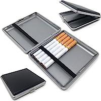 Starlet24® Zigarettenetui schwarz in Leder-Optik für 20 Filterzigaretten Zigarettenbox Etui Box kompakt passend für Hand…