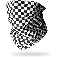 Ruffnek CHEQUERBOARD SCARF Black & White Multifunctional Headwear Neck warmer/Face mask, Chefs bandana, Motorcycle…