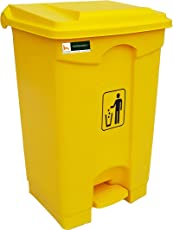 Boogie Dustbins Pedal Bin with Lid 65 litres HDPE Material (Swachh Bharat Mission) by Homegenic