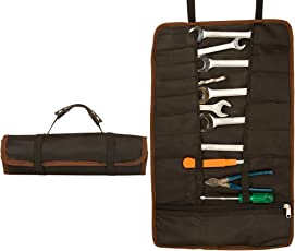 Copperzeit Heavy Duty Canvas 22 Pocket Tool Organizer/Tool Bag, Easy to roll and Carry for Technicians