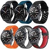 YPSNH Compatible pour Samsung Gear S3 Bracelet 22mm Bracelet de Remplacement en Silicone Bracelet de Sport pour Samsung Galax