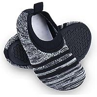 Dream Bridge Kids Toddler Slipper Socks with Rubber Sole Non-Slip Knit Lightweight House Slippers for Boys Girls