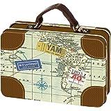 Moses Fernweh Mini-Reisekoffer | Reise Aufbewahrung | Für Geldgeschenke, Metall, Mehrfarbig 10.5 x 7.3 x 3.8 cm