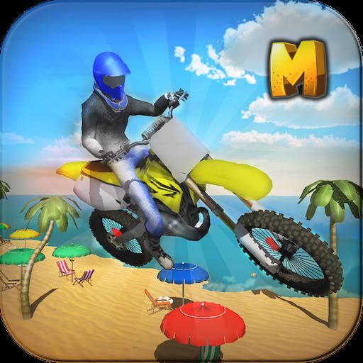 Crazy Beach Bike Stunts Sim