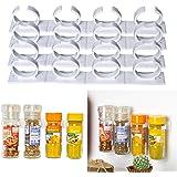 4 x 4 Soporte Organizador para Hierbas y Especias, Organizador para 16 latas, contiene latas de especias grandes de 3,3 – 4,5