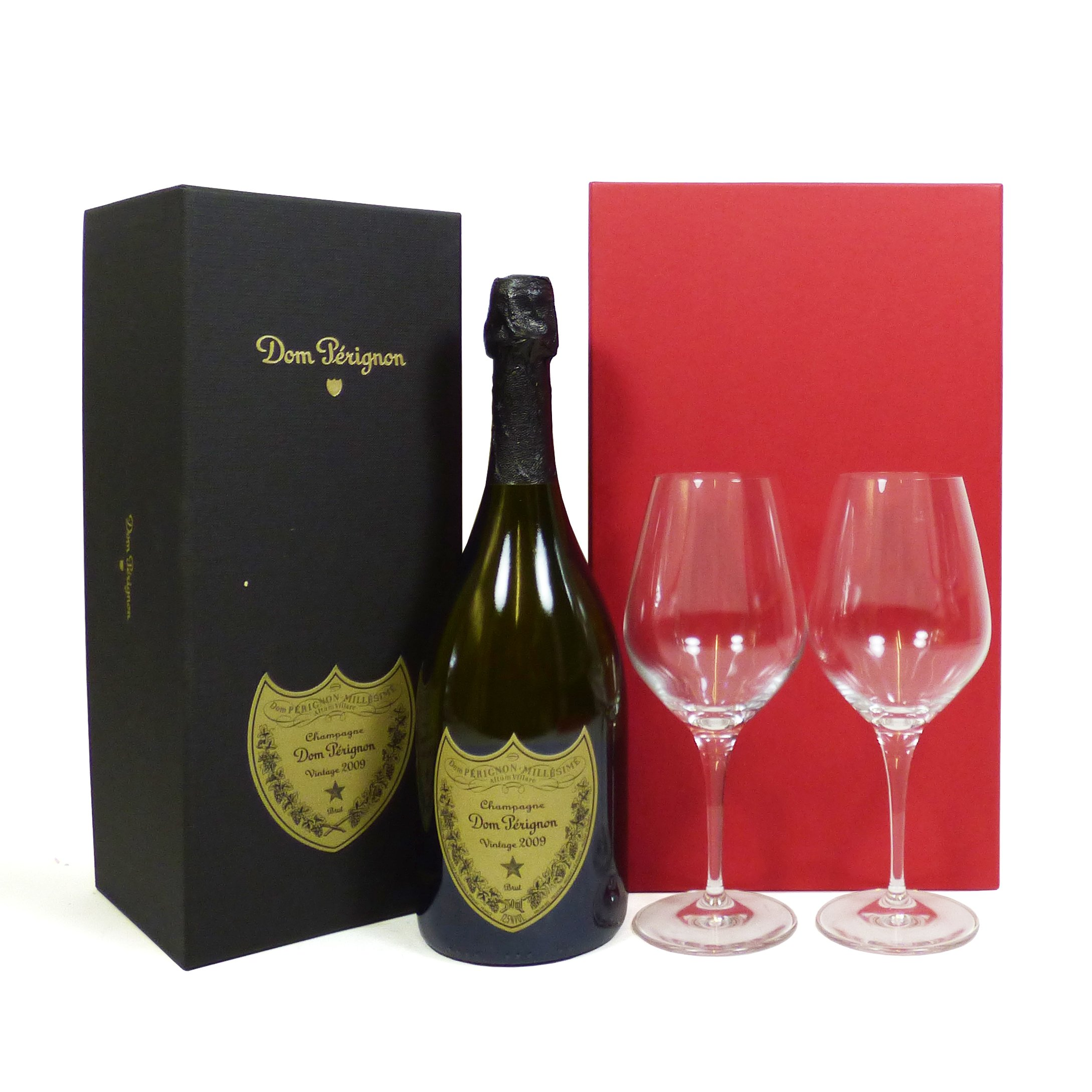 75cl Dom Perignon Champagne Box 2009 Vintage and 2 x Dom Perignon Glasses presented in a Red and Silver Box – Ideas for…