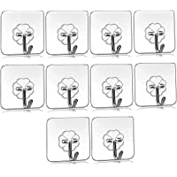 Droposale Waterproof Stick on Adhesives Stronger Wall Hooks Hangers for Hanging Robe, Coat, Towel, Keys, Bags, Lights…