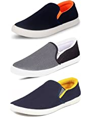 Tempo Men's Combo Pack Of 3 Synthetic Loafers Shoes - Multicolour
