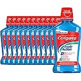 Colgate Enjuague Bucal Triple Action Antibacteriano, Pack 12 Uds x 500 ml