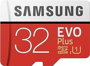 Samsung EVO Plus Micro SDHC 32GB bis zu 95MB/s, Class 10 U1 Speicherkarte (inkl. SD Adapter) rot/weiß