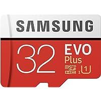 Samsung MB-MC32GA EVO Plus Scheda microSD da 32 GB, UHS-I U1, fino a 95 MB/s, con Adattatore SD, Rosso/Grigio