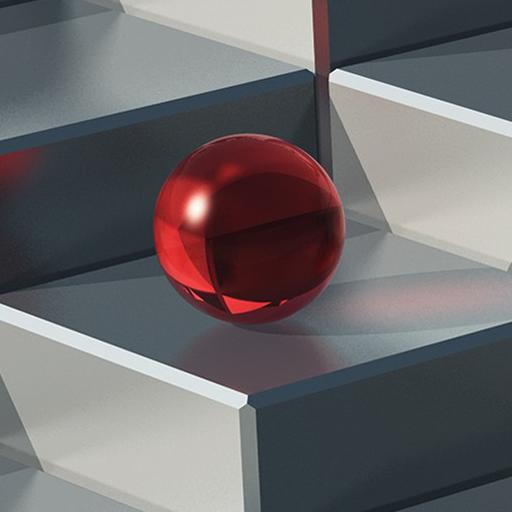 Einzelball - Tippen oder klicken Sie im richtigen Moment, um den Ball zum nächsten Pfad zu drehen -