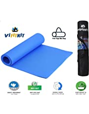 VI FITKIT Yoga Mat Anti Skid EVA Yoga mat with Bag for Gym Workout and Flooring Exercise Long Size Yoga Mat for Men and Women (Color - Blue)