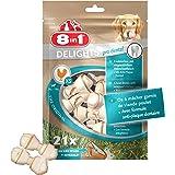 8 in 1 Delights Dental XS - Os de bœuf à Mâcher pour Chien de Petite Taille - Enrichi en minéraux - Viande à cœur - Prodental