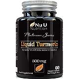 Cápsulas de Cúrcuma Curcumina (Líquidas) con Vitamina D   185 Veces Más Biodisponibilidad Curcumina NovaSOL®   Curcuma Curcum