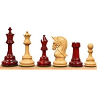 """4.2"""" Grand Staunton Triple Weighted Luxury Chess Pieces Only Set Bud Rose Wood"""