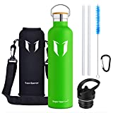Super Sparrow Water Bottle -1000ml - Double Wall Vacuum Insulated Stainless Steel Bottle - Standard Mouth - Leak Proof…