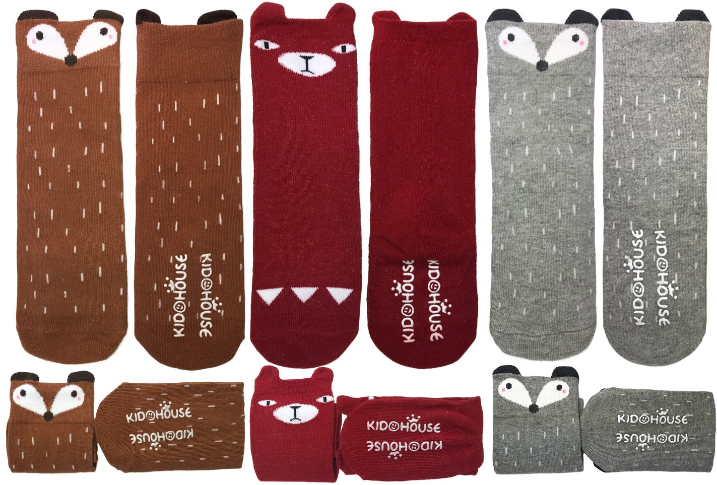 Calcetines altos para niña de 8 a 24 meses para niñas pequeñas, largos, antideslizantes/antideslizantes – – Small