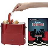 Melissa 16250059 Retro Design Hot Dog Maker 650 Watt Wurst Maker Toaster Würstchenwärmer Rot Metallic