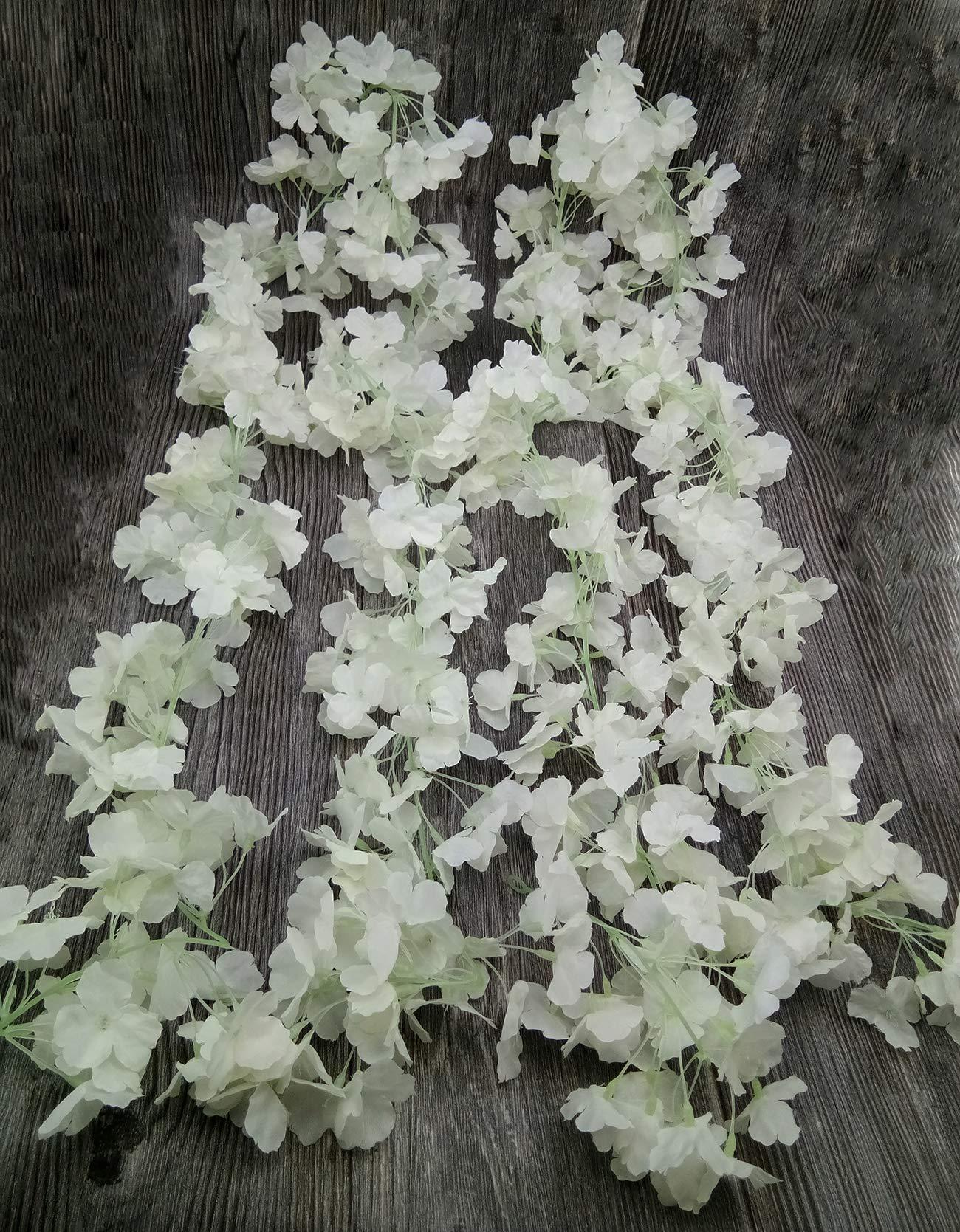 BlueXP 2 Pieza180cm Guirnalda de Flores Artificial Flor Seda Artificiales Colgante Vines Guirnaldas de Hermoso Flores de…