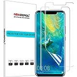 NEWZEROL [2-pack för Huawei Mate 20 Pro skärmskydd fingeravtryck igenkänning [premiumkvalitet anti-bubbla TPU 3D kant till ka