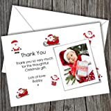 10 Personalised Christmas Photo Thank You Cards (SBD 137) Free UK DELIVERY