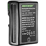 Neewer NW-150WS 14.4V 10400mAh Rechargeable Li-ion Battery for Broadcast Video Camcorder, V Mount Battery Compatible with Son