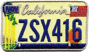 California Kalifornien Autokennzeichen Usa Ca Us Bundesstaaten Patch Aufnäher Aufbügler 0605 Küche Haushalt