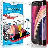 Power Theory Panzerglas kompatibel mit iPhone SE 2020 [2 Stück] - Schutzfolie mit Schablone für iPhone SE 2…
