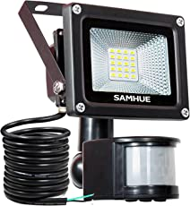 LED Strahler Bewegungsmelder Außen Fluter LED Aussenstrahler Mit BewegBungsmelder SAMHUE 10W Wasserdicht 1000 LM LED Lampen